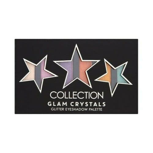 12 x Collection Glam Crystals STARS Glitter Eyeshadow Palette | Glitz and Glam |